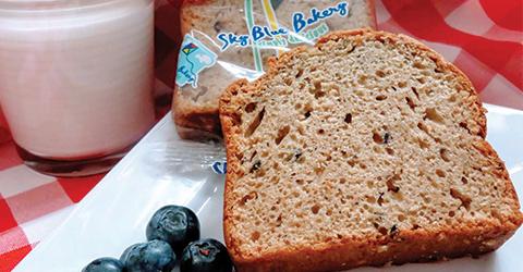 WG Blueberry Bread Slice